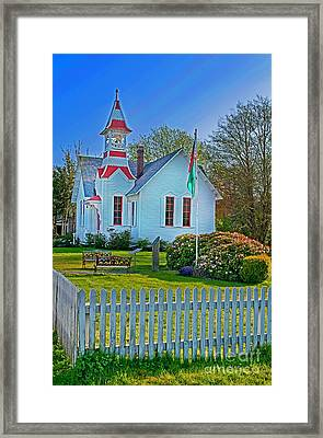 Country Church In Oysterville Wa Framed Print by Valerie Garner