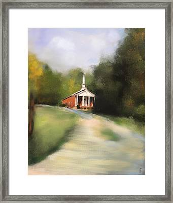 Country Church Framed Print by Jai Johnson