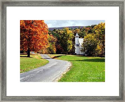 Framed Print featuring the photograph Country Church by Tom Brickhouse