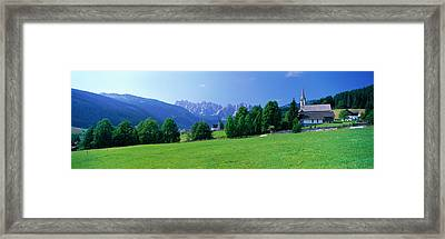 Country Churches Near Dachstein Gosau Framed Print by Panoramic Images