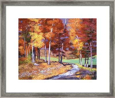 Country Club Fall Framed Print