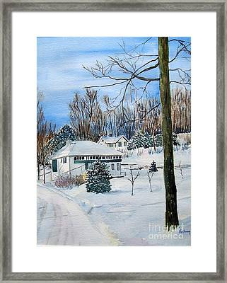 Country Club In Winter Framed Print