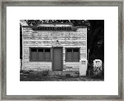 Country Corner Framed Print