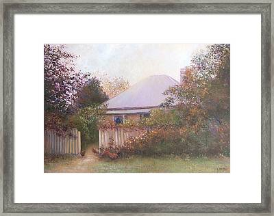Country Cottage Autumn Framed Print