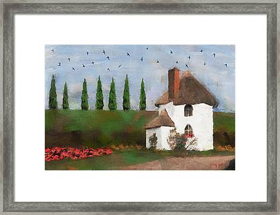 Country Cottage Framed Print by Greg Collins