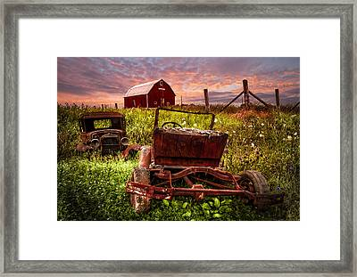 Country Cousins Framed Print by Debra and Dave Vanderlaan