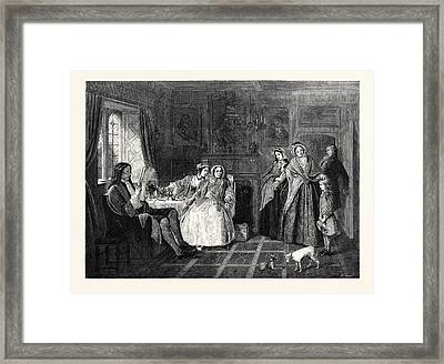 Country Cousins, In The National Gallery British School 1866 Framed Print