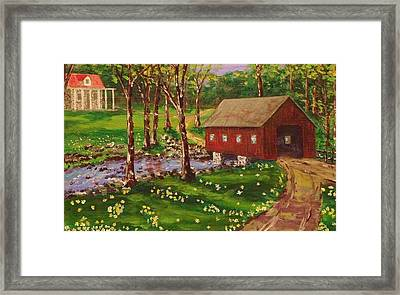 Country Covered Bridge Framed Print