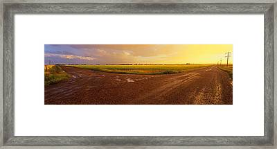 Country Crossroads Passing Framed Print by Panoramic Images