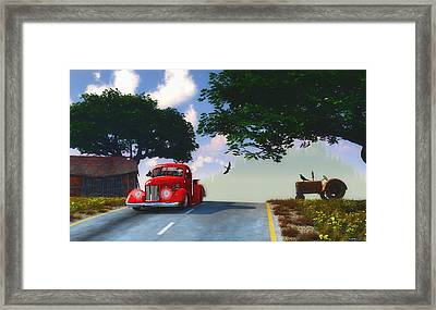 Country Cruise Framed Print