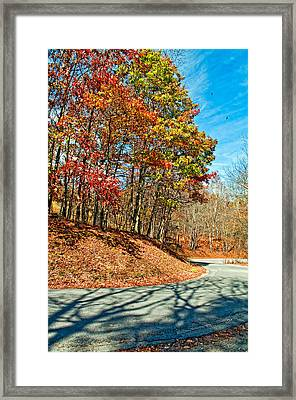 Country Curves And Vultures Framed Print by Steve Harrington