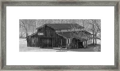 Country Dairy Barn Framed Print by Houston Haynes
