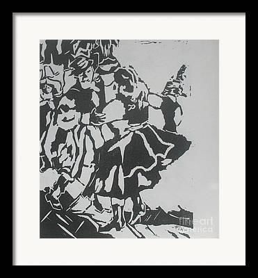 Lenoleum Cut Framed Prints