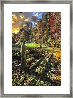 Country Dawn Framed Print by Debra and Dave Vanderlaan