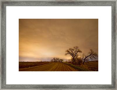 Country Dirt Road Into The Storm Framed Print by James BO  Insogna