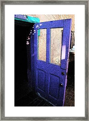 Country Door Framed Print