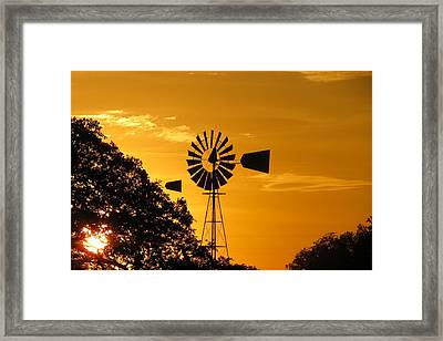 Country Ending Framed Print by David  Norman