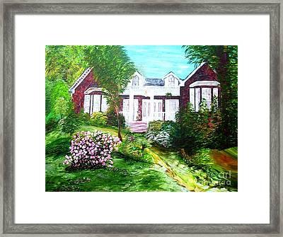 Country Estate In Spring Framed Print