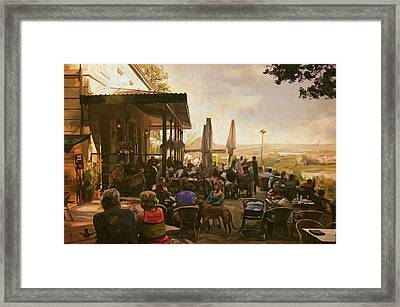 Framed Print featuring the painting Country Estate Slavante By Briex by Nop Briex