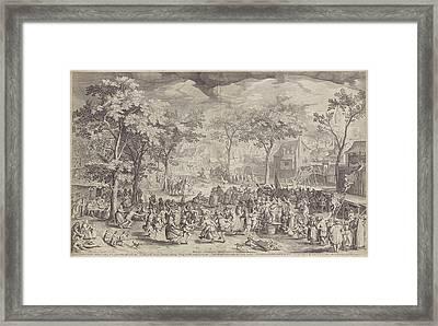 Country Fair, Ca. 1610 Framed Print
