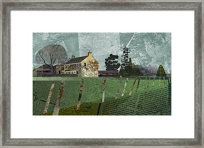 Country Farm Framed Print by Kenneth North