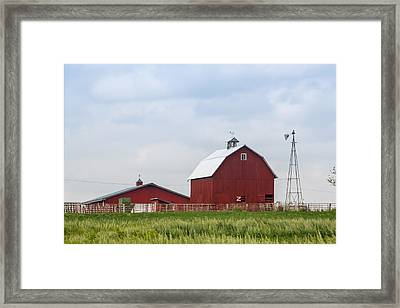 Country Farm Portrait Framed Print