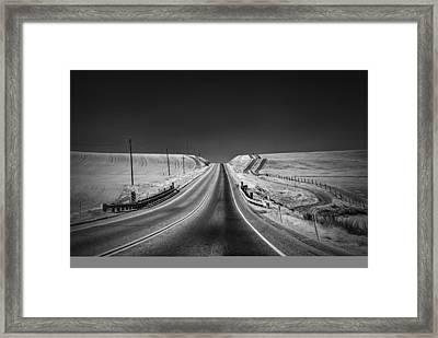 Country Farm Road Framed Print by Anthony Citro