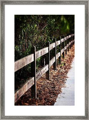 Country Fence Color Framed Print