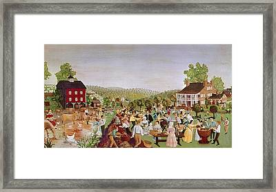 Country Festival, 1853 Framed Print
