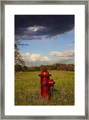 Country Fire Hydrant Framed Print