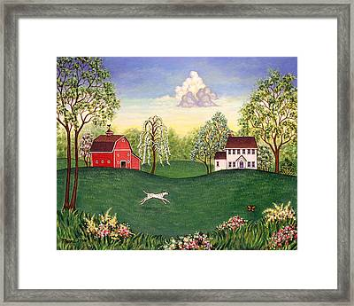 Country Frolic One Framed Print by Linda Mears