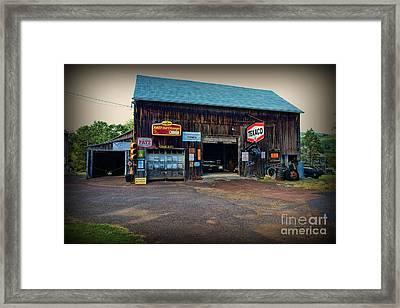 Country Garage Framed Print