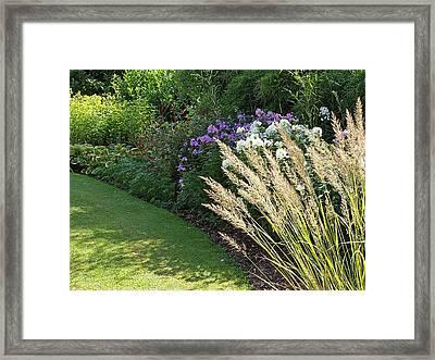 Country Garden Border Framed Print