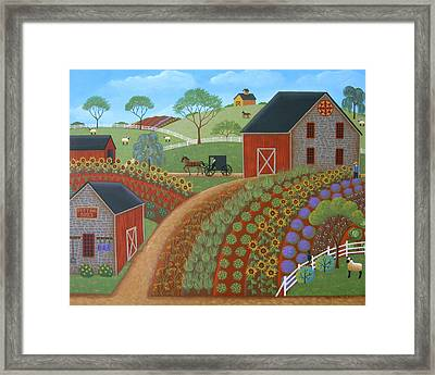 Country Garden Framed Print by Mary Charles