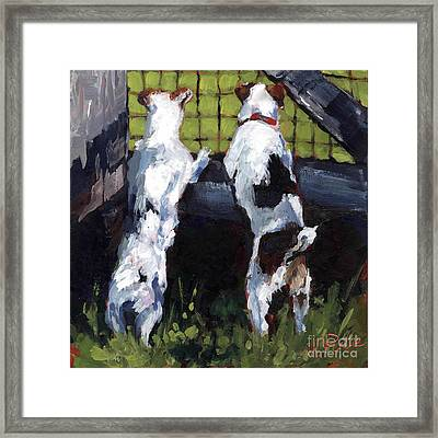 Country Gate Framed Print by Molly Poole
