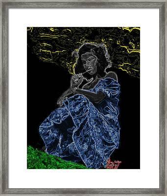 Country Girl Man Ray Homage Framed Print by Brian King