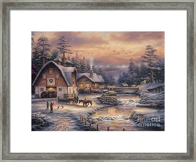 Country Holidays 2 Framed Print by Chuck Pinson