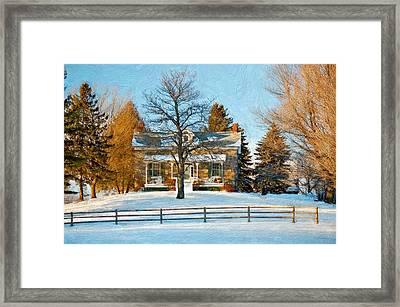 Country Home Impasto Framed Print by Steve Harrington