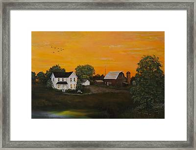 Country Home Framed Print