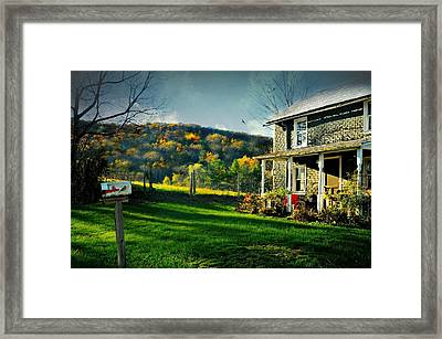Country Home Style Framed Print by Diana Angstadt