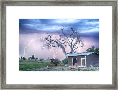 Country Horses Riders On The Storm Framed Print