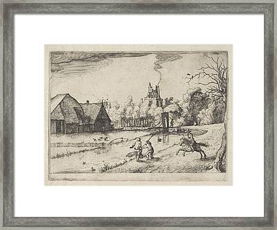 Country House And Orchard Of Jan Daimen, At Sloterdijk Framed Print