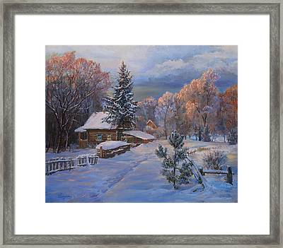 Country House In Winter Framed Print