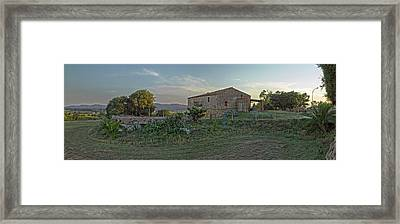 Country House Near Pals, Girona Framed Print