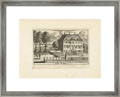 Country House With Falconer, Cornelis Elandts Framed Print by Cornelis Elandts
