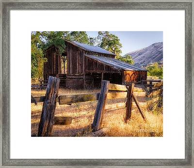 Country In The Foothills Framed Print by Anthony Bonafede