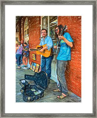 Country In The French Quarter - Paint Framed Print by Steve Harrington