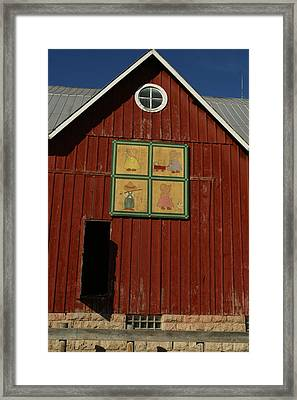 Country Kids Quilt Barn Framed Print by Jay Grammond