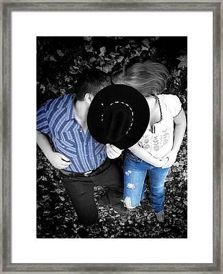Country Kissin Framed Print
