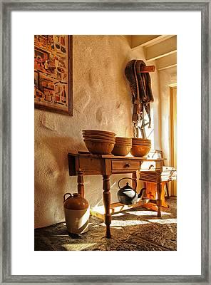 Irish Country Kitchen Framed Print by Barbara Budzinski